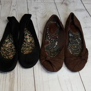 🌹3/$24🌹HOT CAKES BUNDLE- 2 FLATS BLACK/BROWN